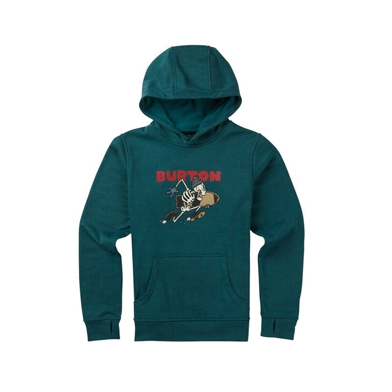Burton Boys Oak Hoody Jasper Heather