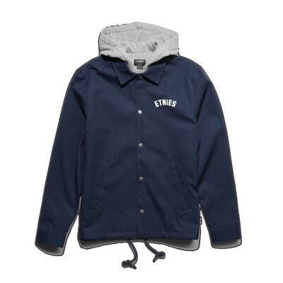 Etnies Keystone Hooded Coach Jacket Dark Navy