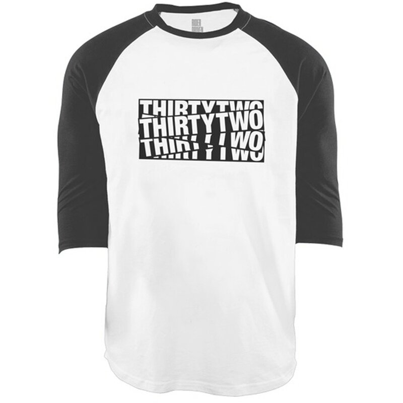 Thirtytwo 32 Sticker Baseball Tee Black/White