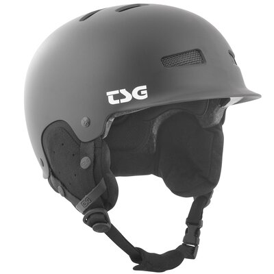 TSG Snow Helm Trophy Solid Satin Black