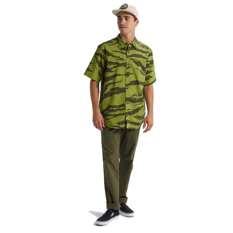 Burton Shabooya Camp Short Sleeve Tiger Camo
