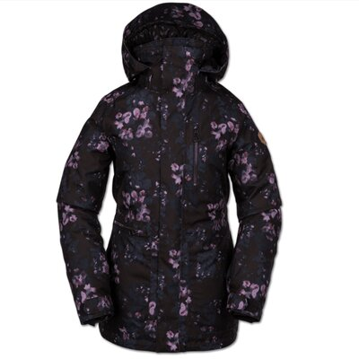 Volcom Shelter 3D Stretch Jacket Black Floral Print