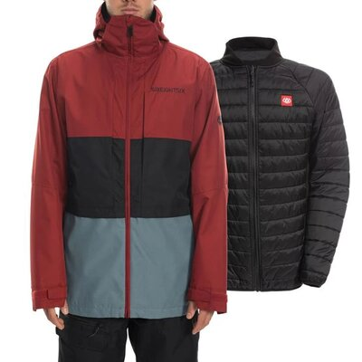 686 Smarty 3-In-1 Form Jacke Rusty Red Colorblock