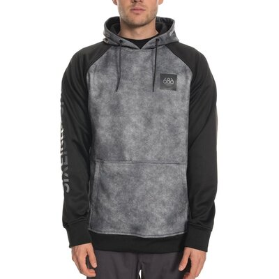 686 Knockout Bonded Fleece Pullover Charcoal Wash Colorblock