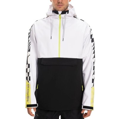 686 Waterproof Anorak White Colorblock