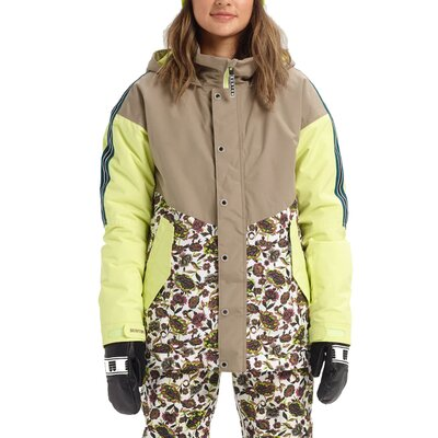 Burton Loyle Parka Jacket Timber Wolf/Sunny Lime/Whit Floral