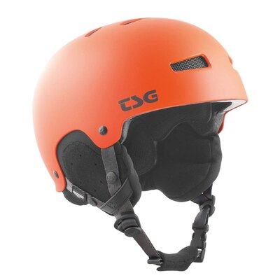 TSG Snow Helm Gravity Solid Satin Magma Orange