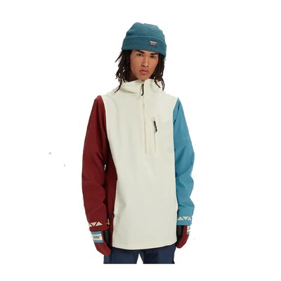 Burton Retro Anorak Almond Milk Multi