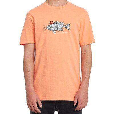 Volcom Trout There LTW S/S Tee Salmon