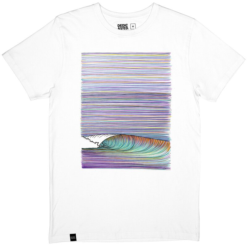 Dedicated Stockholm Color Wave Tee White