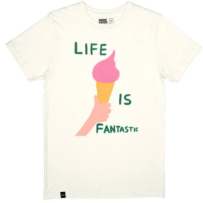 Dedicated Stockholm Life Is Fantastic Tee White