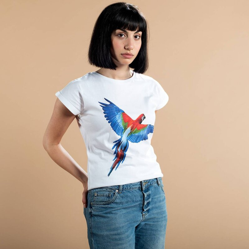 Dedicated Visby Parrot Wings Tee White