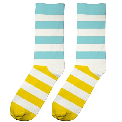 Dedicated Socks Sigtuna Two Stripes Off-White