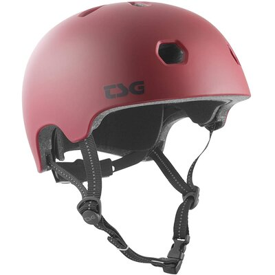TSG Helm Meta Solid Colour Satin Oxblood