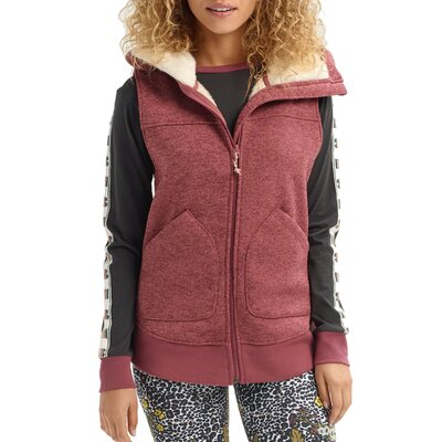 Burton Minxy Vest Rose Brown Heather