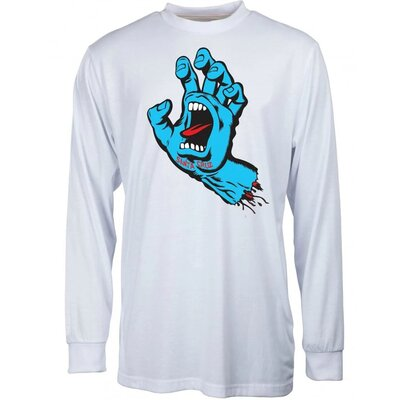 Santa Cruz Screaming Hand L/S T-Shirt White