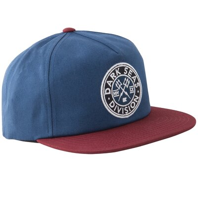 Dark Seas Journeyman Snapback Navy/Red