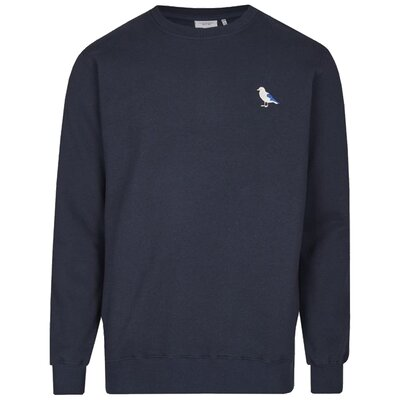 Cleptomanicx Embro Gull Crewneck Navy