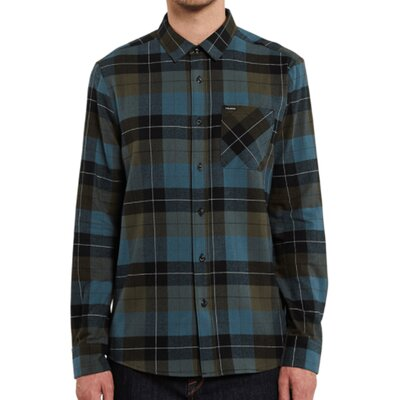 Volcom Caden Plaid LS Military