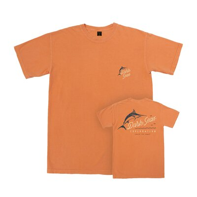 Dark Seas Exploration Tee Burnt Orange
