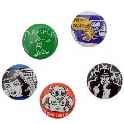 Thrasher Usual Suspects Buttons 5er
