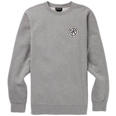 Burton Rosewood Crew Pullover Gray Heather