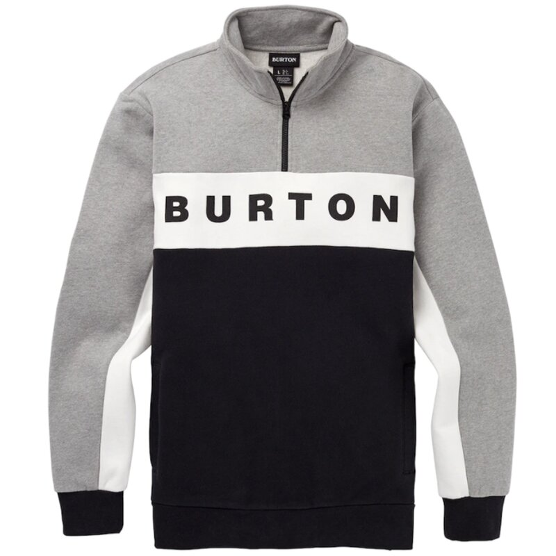 Burton Lowball 1/4 Zip Pullover Heather Gray