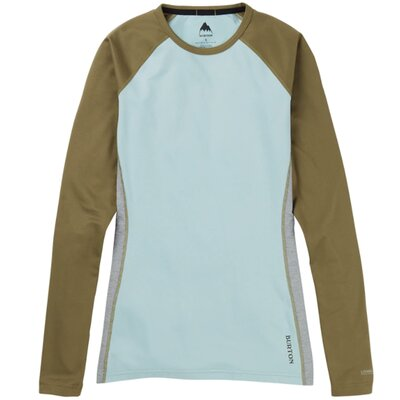 Burton Womens Midweight Crew Martini Olive/Blue