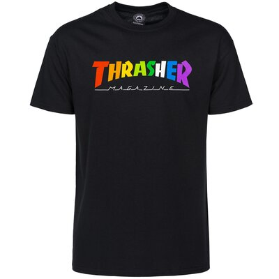 Thrasher Rainbow Mag T-Shirt Black