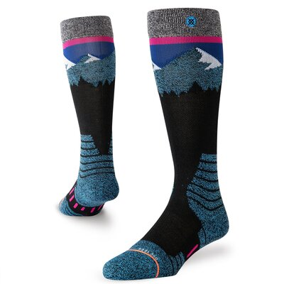 Stance Womens Snow Socks Ridge Line Teal