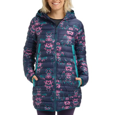 Burton Evergreen Down Long Jacket Dress Blue Stylus