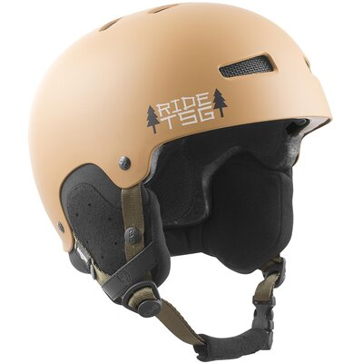 TSG Snow Helm Gravity Graphic Design Cabin Beige