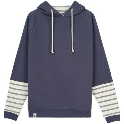 Noorlys Linja Hooded Gray/Beige/Navy Striped