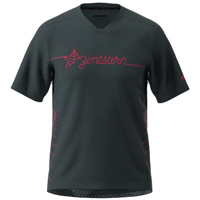Zimtstern Bike EcoFlowz Shirt SS Pirate Black/Jester Red