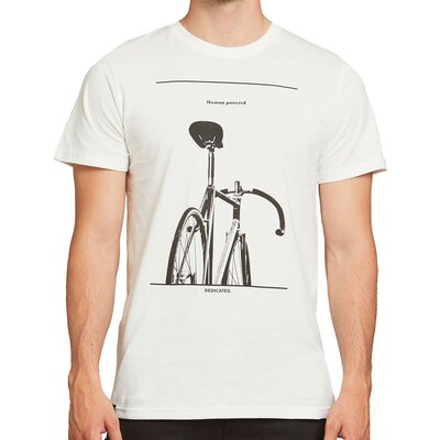 Dedicated T-shirt Stockholm Simplicity Bike Off-White