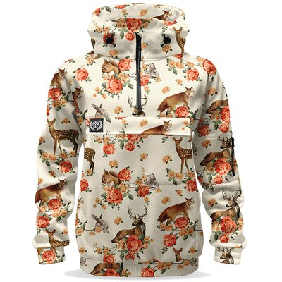 Loose Riders Women Bike Hoodie Forest Animals