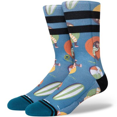Stance Combed Cotton Socks Monkey Chillin