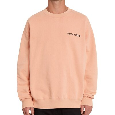Volcom Harcid Wash Crew Fleece Clay Orange