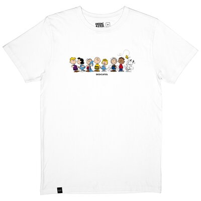 Dedicated T-Shirt Stockholm Peanuts Crew White