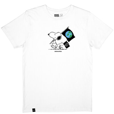 Dedicated T-Shirt Stockholm Snoopy Flags White