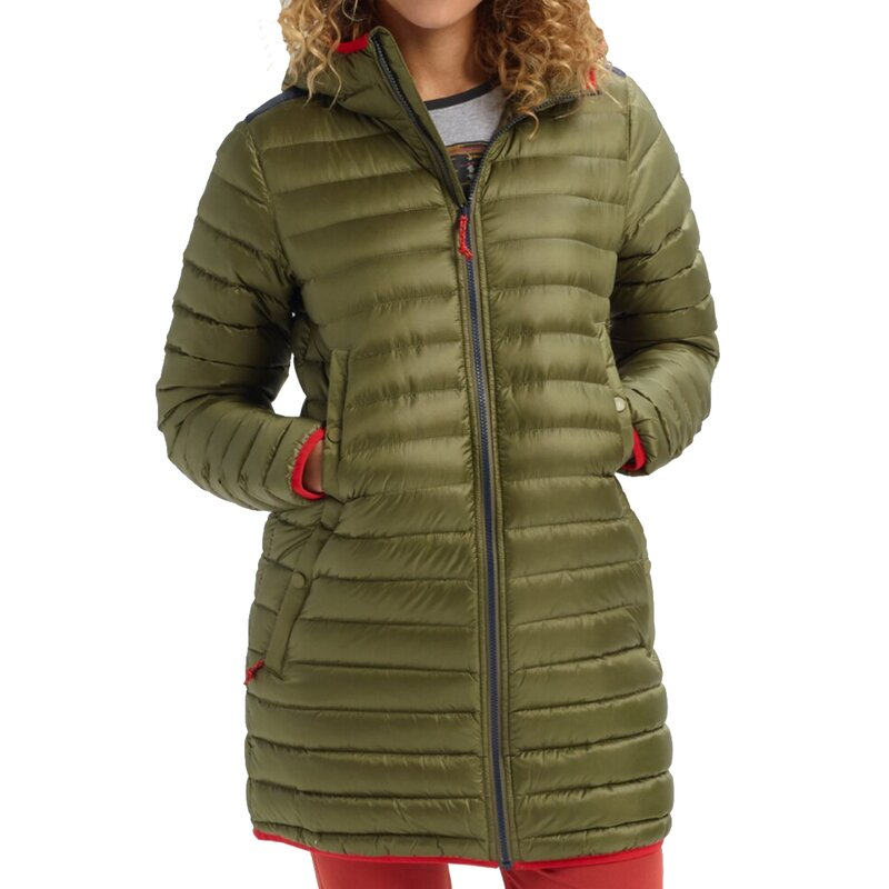 Burton Evergreen Down Long Jacket Martini Olive/Dress Blue