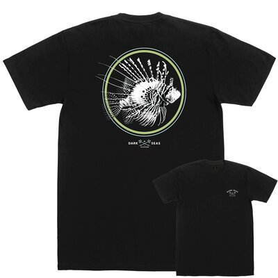 Dark Seas Fish Glow Ink Tee Black