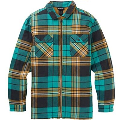 Burton Brighton Insulated Flannel Shirt Phantom Chunk Plaid