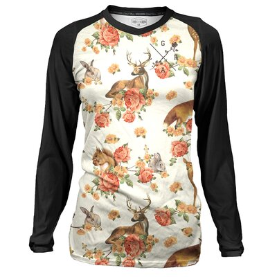 Loose Riders Women Jersey Longsleeve Forest Animals