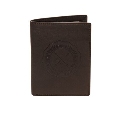 Reell Logo Leather Wallet Brown