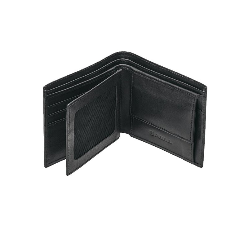 Reell Trifold Leather Wallet Black