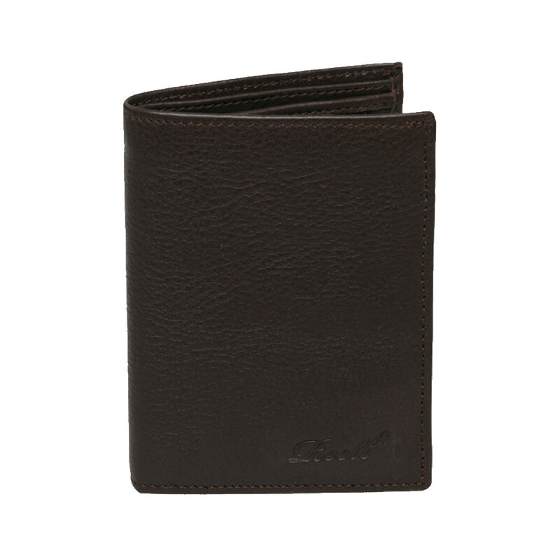Reell Trifold Leather Wallet Brown